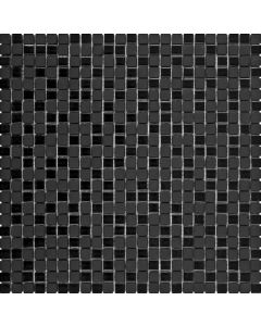 Mix Matte & Glossy Black Glass - Glass Mosaic