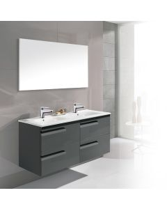 Dawn® - Vitale Vanity: Anthracite - Double Sink