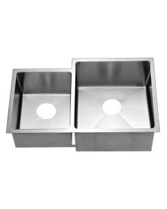 Dawn® Undermount Extra Small Corner Radius Double Bowls (Small Bowl on Left)