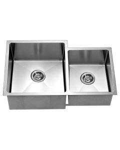 Dawn® Undermount Extra Small Corner Radius Double Bowls (Small Bowl on Right)