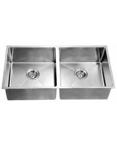 Dawn® Undermount Extra Small Corner Radius Equal Double Bowl