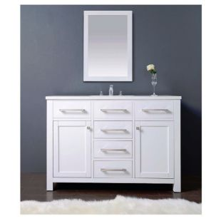 "Dawn® Milan Style Vanity Set 48"" w/ Single Sink & White Marble Top"