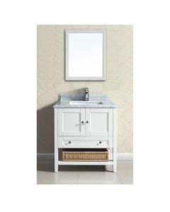 """Dawn® Bohemian Style Vanity Set 30"""" w/ Single Sink & Marble Top"""