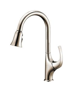 Dawn® Single-lever pull-out spray kitchen faucet, Brushed Nickel