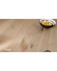 Virginia Hardwood - Genuine French Oak: Cloud - Engineered Wirebrushed French Oak