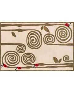 Momeni - Lil Mo Whimsy: Curly Fern Ivory 03