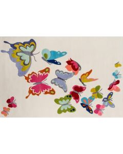 Momeni - Lil Mo Whimsy: Butterfly Flutter Ivory 32