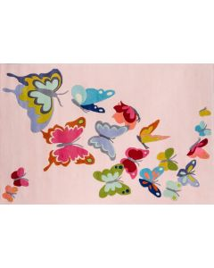Momeni - Lil Mo Whimsy: Butterfly Flutter Pink 32